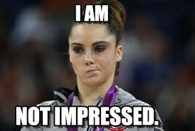i am mckayla maroney not impressed meme on memegen