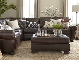 Living Room With Leather Sofa Living Room How To Decorate With Leather Furniture Interior