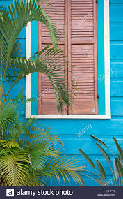 colorful blue and pink wooden house detail of classical new