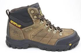 caterpillar threshold p90935 brown leather waterproof slip