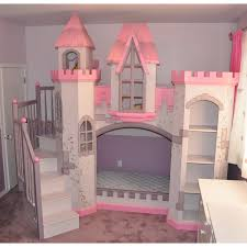 Princess Bunk Bed With Slide Awesome Pink And White Princess Bunk Beds With Slide Of Pretty