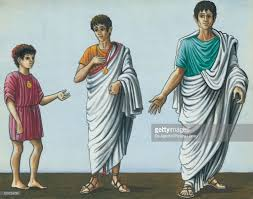 roman clothes child with short tunic boy with praetexta with