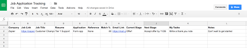 Applicant Tracking Spreadsheet How To Land Your Dream Job With One Spreadsheet