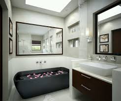 Bathroom Furniture Black Beautiful Black Bathtub Also Large Wall Mirror Design And Modern