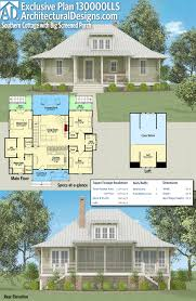 large front porch house plans architectural designs exclusive southern cottage plan 130000lls