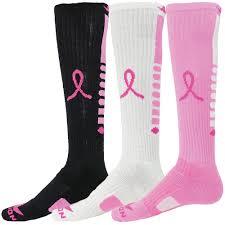 pink ribbon breast cancer awareness pegasus elite knee high socks in