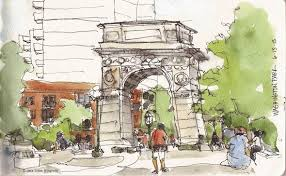 sketching washington square washington square park blog