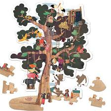 tree reversible puzzle by londji 50 pieces 5 9 yrs