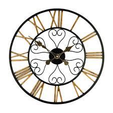 hamilton roman numeral metal garden wall clock 50cm 19 7