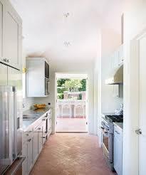 Brick Floor Kitchen by Brick Herringbone Kitchen Floor Design Ideas