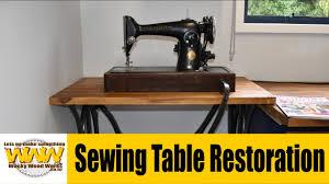 Singer Sewing Machine Desk 70 Year Old Singer Sewing Table Restoration Off The Cuff Wacky