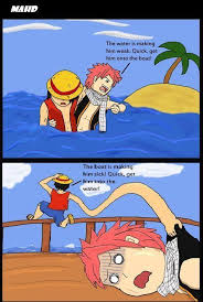 Fairy Tail Funny Memes - one piece x fairy tail luffy and natsu ahaha fairy tail 3 3