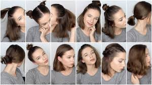 make up your busy morning by wearing easy hairstyle for short hair