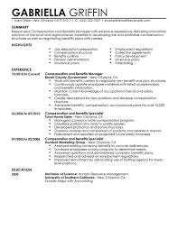 Sample Resume With Summary Statement by 10 Benefits Specialist Resume Sample Resume Benefits Administrator