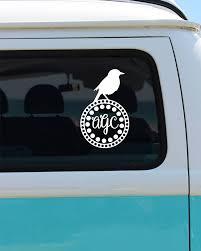 monogram car decal bird monogram vinyl decal car decal monogram car decal