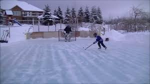 michael tauskela shots at dad in our backyard rink youtube