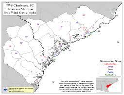 Map Of Beaufort Sc Hurricane Matthew October 2016
