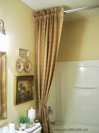 Pictures Of Shower Curtains In Bathrooms A Stroll Thru Answers To How I Did The Shower Curtain