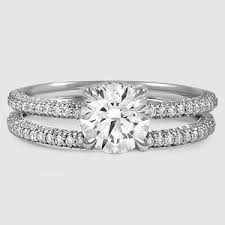 Wedding Set Rings by 18k White Gold Valencia Diamond Bridal Set Brilliant Earth