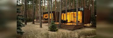 yod design lab u0027s modern cabins mirror the forest in ukraine
