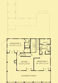 Level Floor Southern Home Plans Featuring Front U0026 Rear Covered Porches