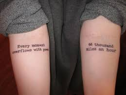 tattoos quotes matching quote tattoos for