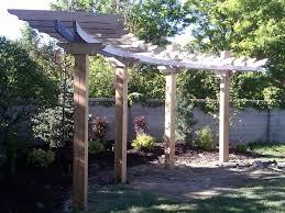 Best  Curved Pergola Ideas On Pinterest Backyard Kitchen - Pergola backyard designs