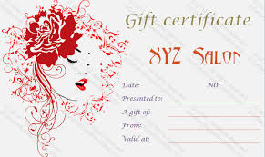 nail salon gift cards printable gift certificates for hair salon wcm