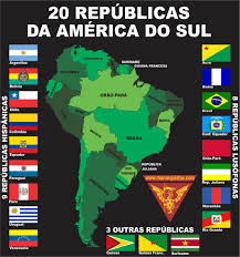 South America Flags South American Republics According To Brazilian Monarchists Maps