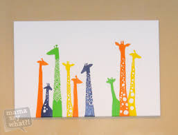 cute cheap and easy colorful diy canvas painting nursery