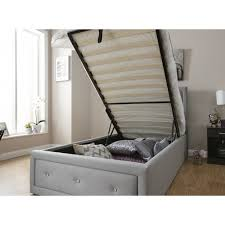 fabric ottoman bed frame