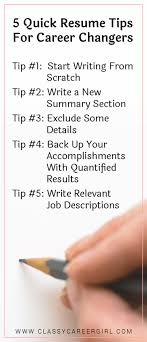 quick resume tips 5 quick resume tips for career changers classy career girl