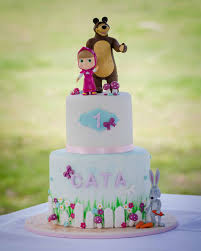 masha and the bear a cute cake for a little cutie