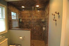 Sloped Ceiling Lighting Recessed Light In Shower And Latest Doors For Walk With Sloped