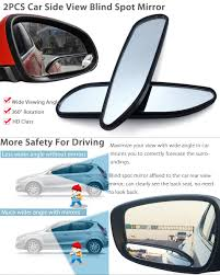 Remove Blind Spot Mirror 2x Universal 360 Wide Angle Convex Rear Side View Auto Blind Spot