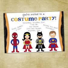 costumes birthday party invitation u2013 festival collections