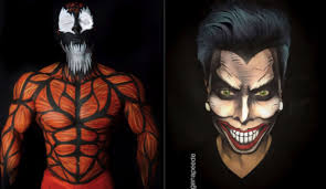 makeup artist transforms people into real life comic book characters