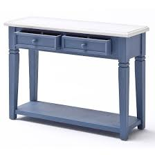 Blue Console Table Falcon Console Table With Drawers In Solid Blue Pine 25441