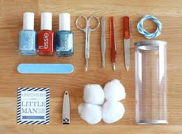 manicure set favors saffron and indigo manicure set favors