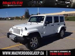 white jeep wrangler for sale ontario 2015 white jeep wrangler unlimited newmarket ontario