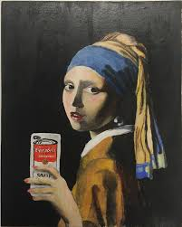 girl with pearl earring painting the girl with the pearl earring taking a selfie by almostastrid on