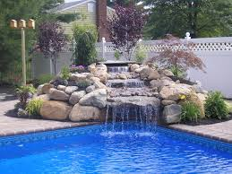 swimming pool waterfall designs home decor gallery