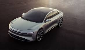 tesla electric car lucid reveals design for its luxury air sedan a tesla competitor