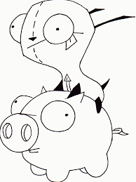 gir coloring pages to print coloring home
