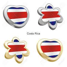 Costarica Flag Vector Illustration Of Costa Rica Flag In Heart And Flower Shape