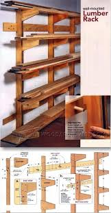 Woodworking Plans Garage Shelves by The 25 Best Lumber Rack Ideas On Pinterest Wood Storage Rack