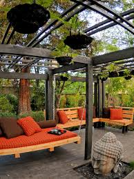 Backyard Rooms Ideas by Our Favorite Designer Outdoor Rooms Daybed Backyard And Hgtv