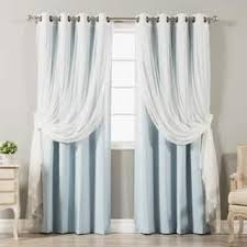 sheer window treatments sheer curtains for less overstock com