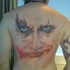 tattoo back face big clown face tattoo on back tattoos book 65 000 tattoos designs