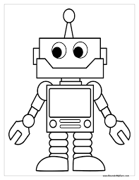 robot coloring page free printable pages inside omeletta me